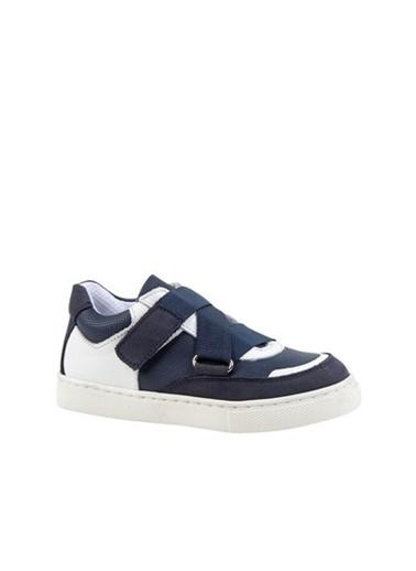 Kids A More Alexy Tek Cırtlı Deri Erkek Çocuk Sneaker  Lacivert
